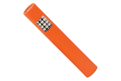 BAYCO POCKET SIZED LED SAFETY ORANGE FLASHLIGHT - 6.9""