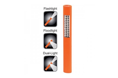 BAYCO POCKET SIZED LED SAFETY ORANGE FLASHLIGHT - 8.8""