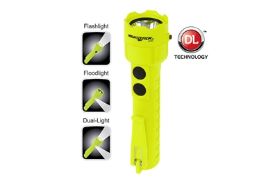 NIGHTSTICK INTRINSICALLY SAFE PERMISSIBLE DUAL-LIGHT FLASHLIGHT