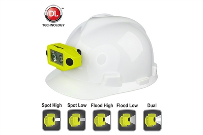 NIGHTSTICK INTRINSICALLY SAFE LOW PROFILE DUAL-LIGHT HEADLAMP WITH HARD HAT CLIP