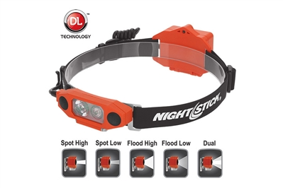 NIGHTSTICK DICATA INTRINSICALLY SAFE LOW PROFILE DUAL-LIGHT HEADLAMP
