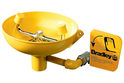 BRADLEY EYEWASH UNIT - PLUMBED-IN WALL MOUNT