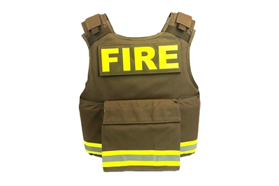 F1 UNIVERSAL FIRE CARRIER - ONE SIZE BODY ARMOR BALLISTIC VEST - FIRE / EMS