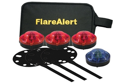 FLARE ALERT BEACON PRO & ACCESSORY KIT - 3 RED & 1 BLUE