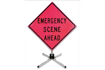 MDI EMERGENCY SCENE AHEAD SIGN - 36""