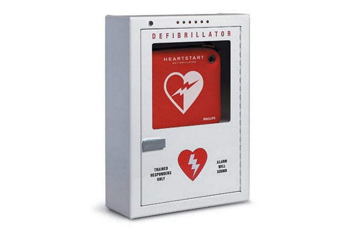 PHILIPS HEARTSTART FRX ALARMED WALL CABINET