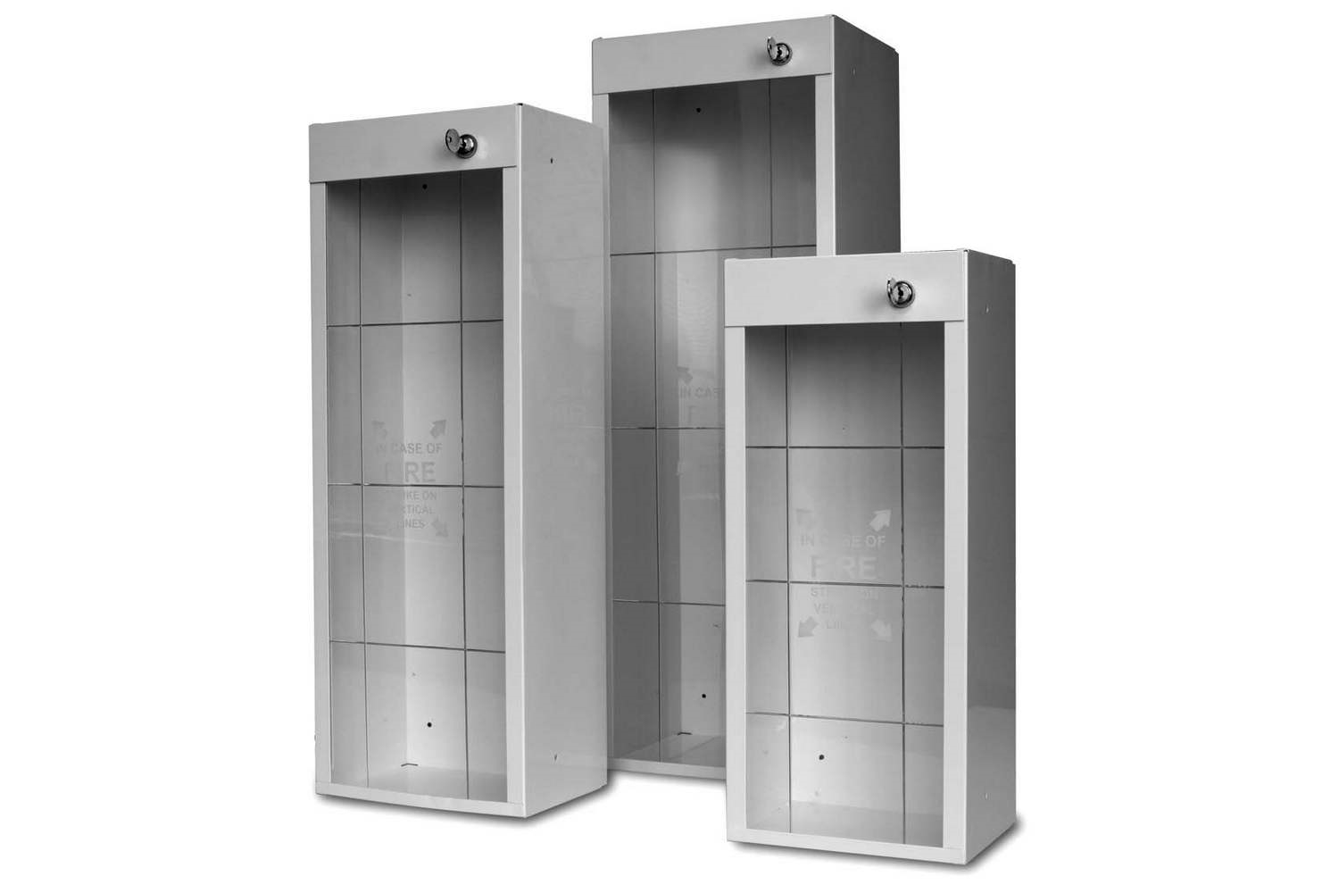 pyro-chem tyco surface mount fire extinguisher cabinets