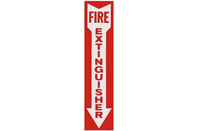 "FIRE EXTINGUISHER ARROW SIGN - 4"" X 18"""