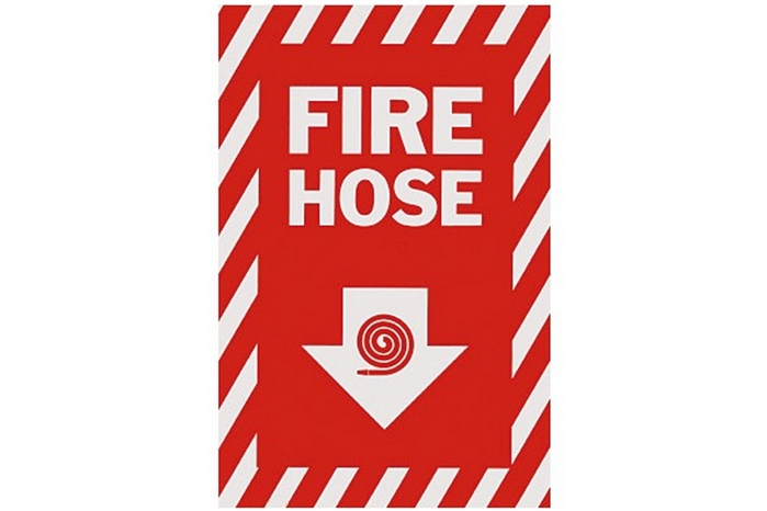 "Gas Station Current Location >> FIRE HOSE ARROW SIGN - 8"" X 12"""