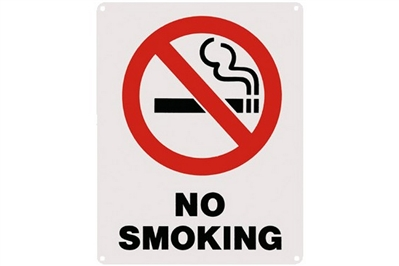 "NO SMOKING SIGN - 8"" X 10"""