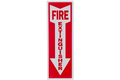 "FIRE EXTINGUISHER ARROW SIGN - 4"" X 12"""