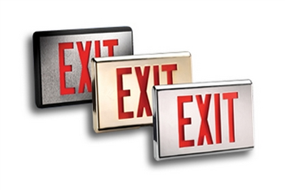 READY-LITE CX2000 SERIES DIE-CAST ALUMINUM EXIT SIGNS