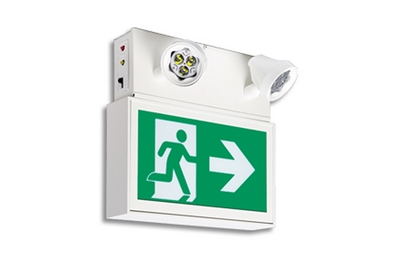 READY-LITE RAC SERIES EXTRUDED ALUMINUM PICTOGRAM EXIT COMBO UNIT
