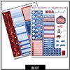 Red and Blue Glitter B6/Mini Kit