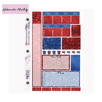 Red and Blue Glitter Hobo Monthly Kit