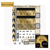 WCP Black and Gold Art Deco Hobo Weekly Kit