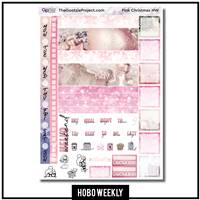 Pink Photo Christmas Hobo Weekly Kit
