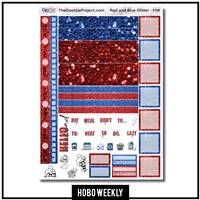 Red and Blue Glitter Hobo Weekly Kit