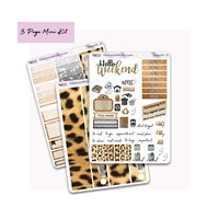 Leopard 3 Page Mini Photo Kit