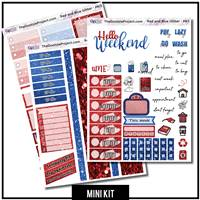 Red and Blue Glitter 3 Page Mini Kit