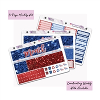 Red and Blue Glitter Monthly