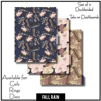 Fall Rain Tabs or Dashboards 3 Side Set B