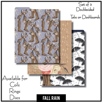 Fall Rain Tabs or Dashboards 3 Top Set