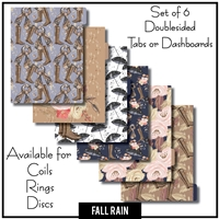 Fall Rain Tabs or Dashboards 6 Set