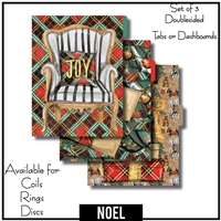 Noel Tabs or Dashboards 3 Side Set A