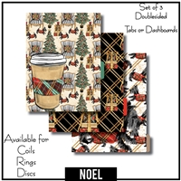 Noel Tabs or Dashboards 3 Side Set B