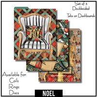 Noel Tabs or Dashboards 3 Top Set