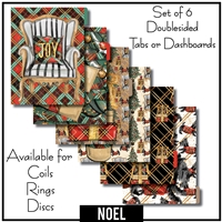 Noel Tabs or Dashboards 6 Set