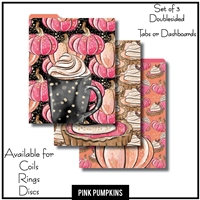 Pink Pumpkins Tabs or Dashboards 3 Top Set