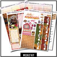 Fall Leaves Happy Planner Weekly