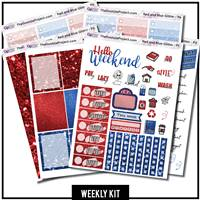Red and Blue Glitter EC Weekly