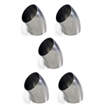 "3"" Stainless Steel Short Radius 45 Degree Bend - 5 Pack"