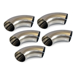 "3"" Stainless Steel Short Radius 90 Degree Bend - 5 Pack"