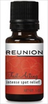 1/2 oz of Reunion Pain Relief essential oil.  Applies in seconds ... Works in minutes ... Lasts for hours. Topical tropical oils penetrate your skin to soothe nerve and muscle pain away.    Find out why we call this Intense Spot Relief! 50-60 Applications