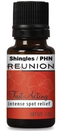 Reunion HZ with Twelve Essential Oils for Pain, Inflammation, Viral Relief.