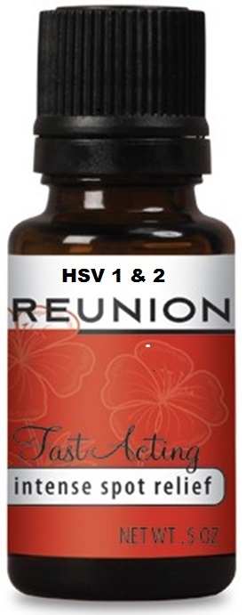 Reunion HSV with 12 Essential Oils for Herpes 1 & 2 Relief