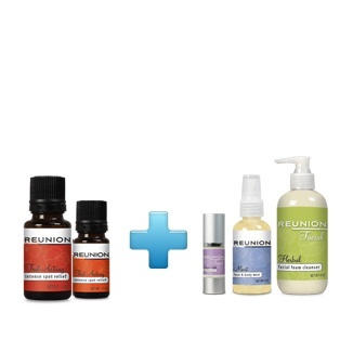 Promotional bundle of diabetic and skin care products especially for women.
