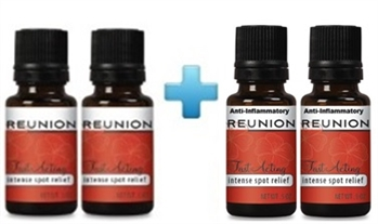 Two bottles of .5 fl. oz. ISR PLUS two bottles of .5 fl. oz.. AI.   Applies in seconds, works in minutes  and get pain relief for hours.  Topical tropical oils penetrate your skin to soothe nerve pain away fast.