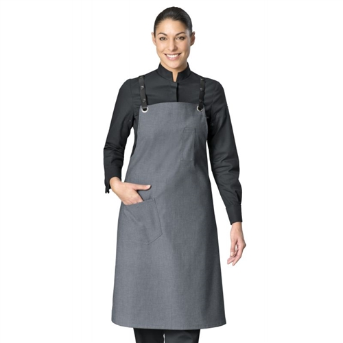 BIB-APRON TONIC STEEL GRAY