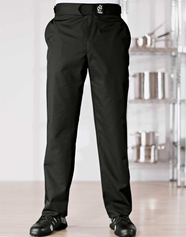 Solid Black Denver Chef Pants