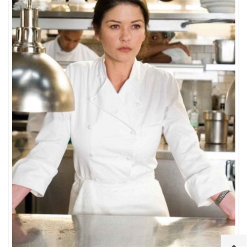 'The Grand Chef Lady'  Chef Jacket in 100% Long Fiber Pima Premium Cotton, the finest cotton in the world!