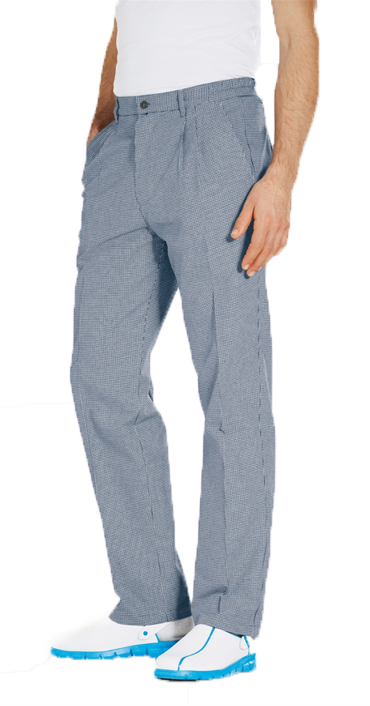 Funandoc Chef pants with dark navy check