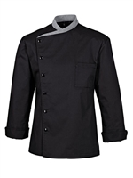 Juliuso long Sleeved Chef Jacket black with grey