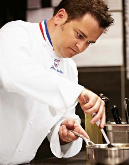 'The Grand Chef' Chef Jacket EXCLUSIVE French tricolor collar 100% Long Fiber Pima Premium Cotton, the finest cotton in the world!