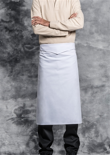 Badiane waist apron white with ties