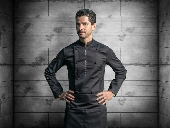 Dream HYBRID WEAR double breasted Executive Chef jacket black